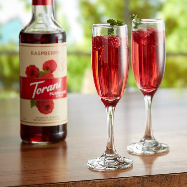 Torani 750 mL Puremade Raspberry Flavoring Syrup