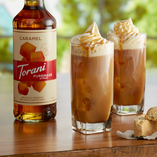 Torani 750 mL Puremade Caramel Flavoring Syrup Main Image 2