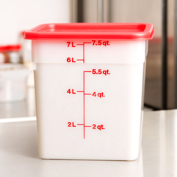 Cambro 8sfsp148 8 Qt White Poly Camsquare 174 Food Storage