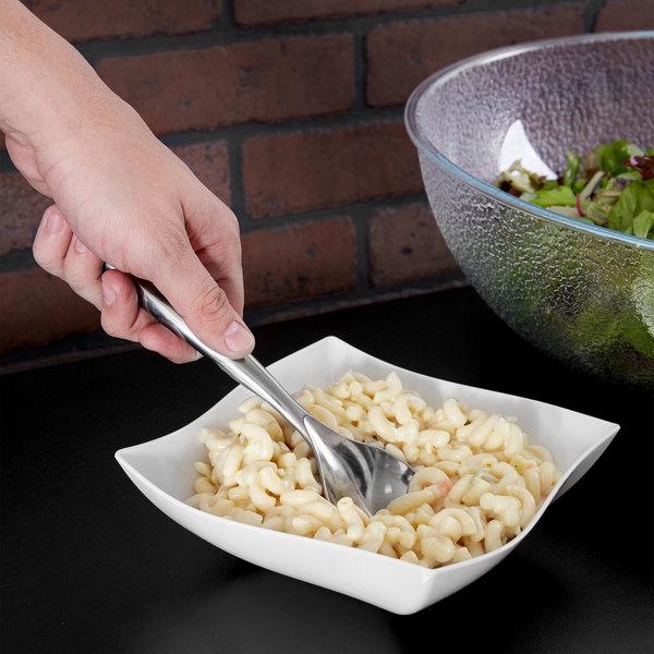 """Sabert UM72S 10"""" Disposable Silver Plastic Serving Spoon - 72/Case Main Image 7"""