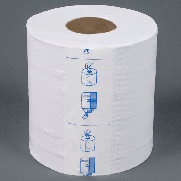 Merfin 725 2-Ply Center Pull Paper Towel 600' Roll - 6 / Case