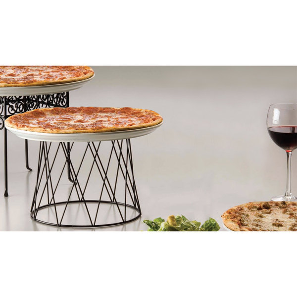 "American Metalcraft DPS797 7"" Black Drum Pizza Stand"