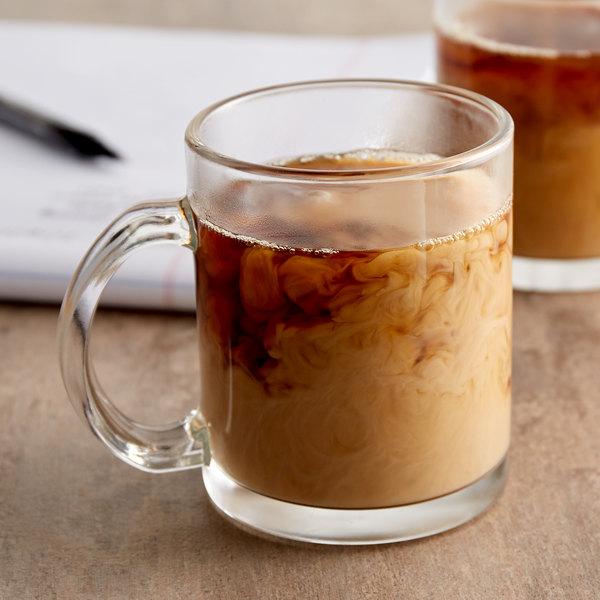 Acopa 12 oz. Customizable Clear Glass Coffee Mug - 12/Case Main Image 2