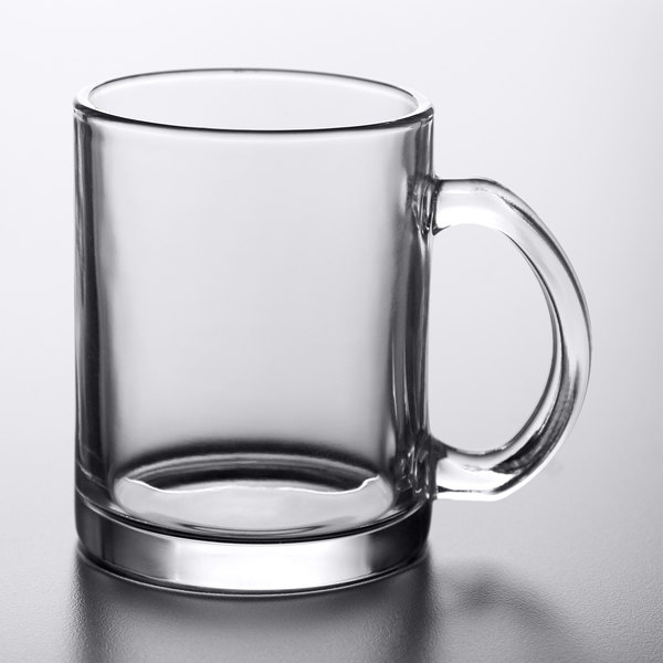 Acopa 12 oz. Customizable Clear Glass Coffee Mug - 12/Case