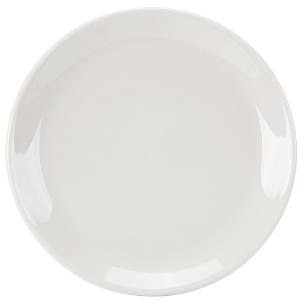 """Homer Laughlin 30700 Empire 9"""" Ivory (American White) Coupe China Plate - 24/Case"""
