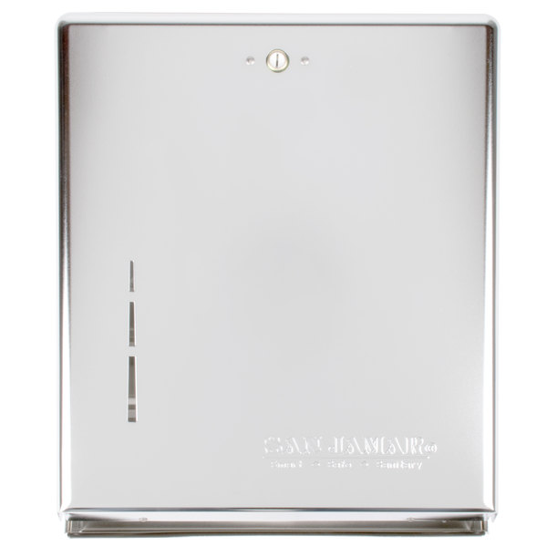 San Jamar T1900XC Chrome C-Fold / Multi-Fold Towel Dispenser
