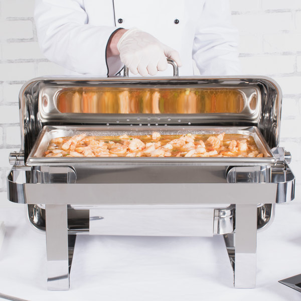 Vollrath 46350 9 Qt. Avenger Roll Top Chafer Full Size Main Image 4