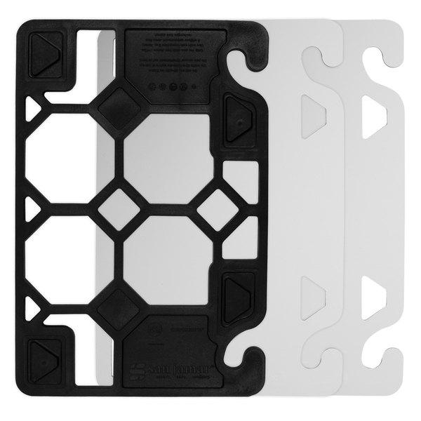 "San Jamar CBQGSK1218 QuadGrip 18"" x 12"""" x 1/8"" Cutting Board Starter Kit"
