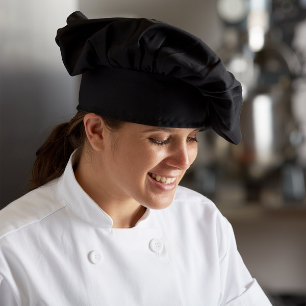 Mercer Culinary Millennia® Customizable Black Soft Chef Hat / Floppy Toque Hat Main Image 3