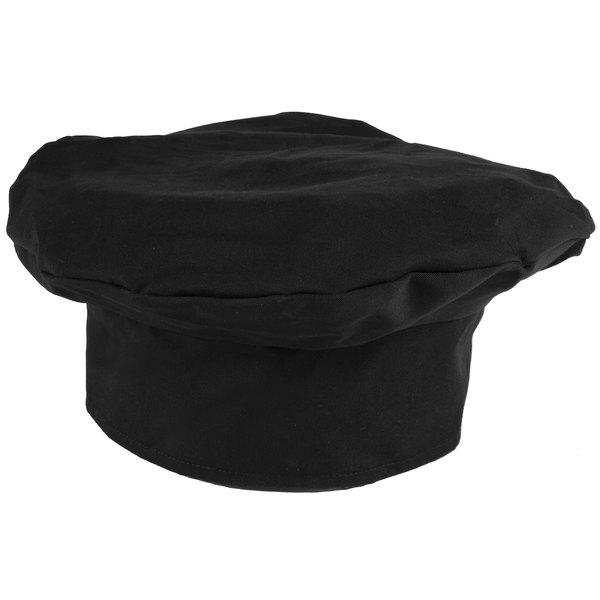Mercer Culinary Millennia® Customizable Black Chef Beret / Floppy Toque Hat Main Image 1