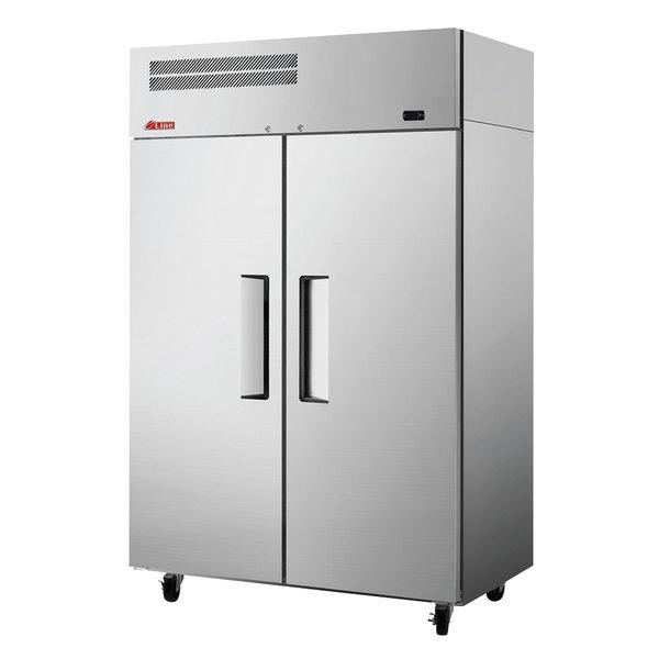"Turbo Air EF47-2-N E-Line 52"" Solid 2 Door Reach-In Freezer"