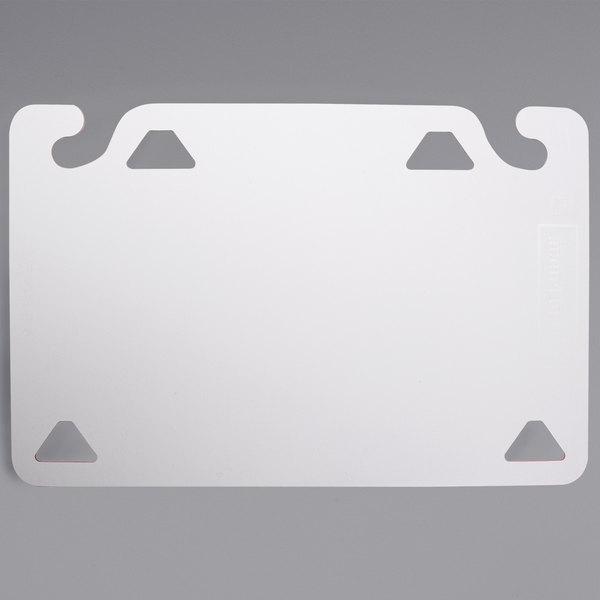"""San Jamar CBQG1218WH QuadGrip™ 18"""" x 12"""" x 1/8"""" White Cutting Board Refill - 2/Pack"""