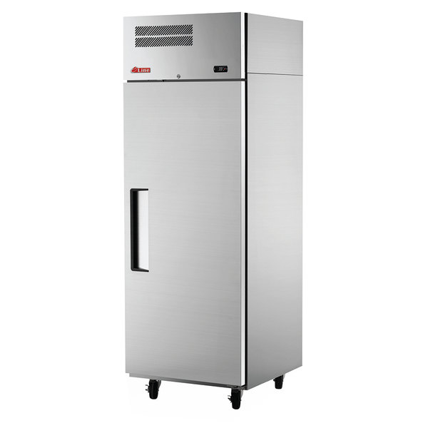 "Turbo Air ER19-1-N E-Line 25"" Solid Door Reach-In Refrigerator"
