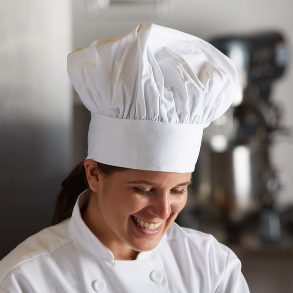 Mercer Culinary Millennia® Customizable White Soft Chef Hat / Floppy Toque Hat Main Image 3