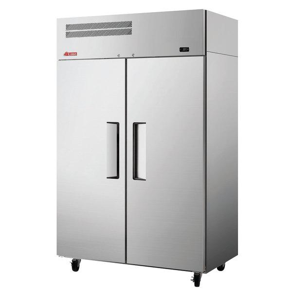 "Turbo Air ER47-2-N6-V E-Line 52"" Solid 2 Door Reach-In Refrigerator Main Image 1"
