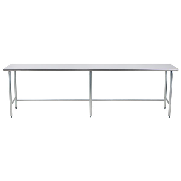 """Advance Tabco TAG-2410 24"""" x 120"""" 16 Gauge Open Base Stainless Steel Commercial Work Table"""
