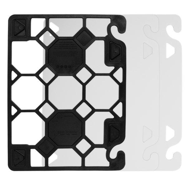 "San Jamar CBQGSK1520 QuadGrip 20"" x 15"" x 1/8"" Cutting Board Starter Kit"