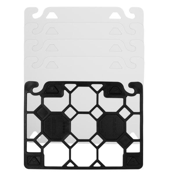 "San Jamar CBQGDK1520 QuadGrip™ 20"" x 15"" x 1/8"" Cutting Board Expansion Kit"
