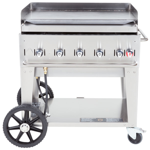 "Crown Verity MG-36 Liquid Propane 36"" Portable Outdoor Griddle"