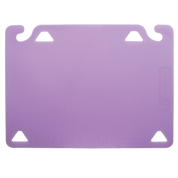 """San Jamar CBQG1520PR QuadGrip™ 20"""" x 15"""" x 1/8"""" Purple Cutting Board Refill - 2/Pack"""