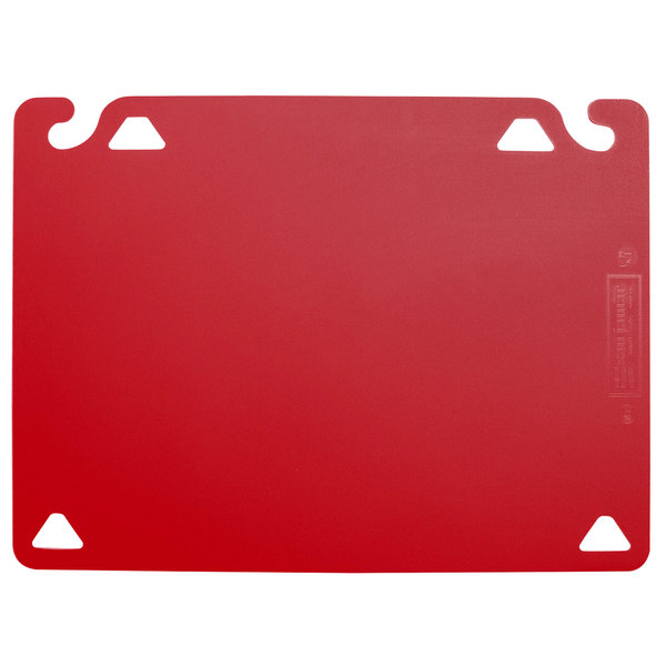 "San Jamar CBQG1824RD QuadGrip™ 24"" x 18"" x 1/8"" Red Cutting Board Refill - 2/Pack"