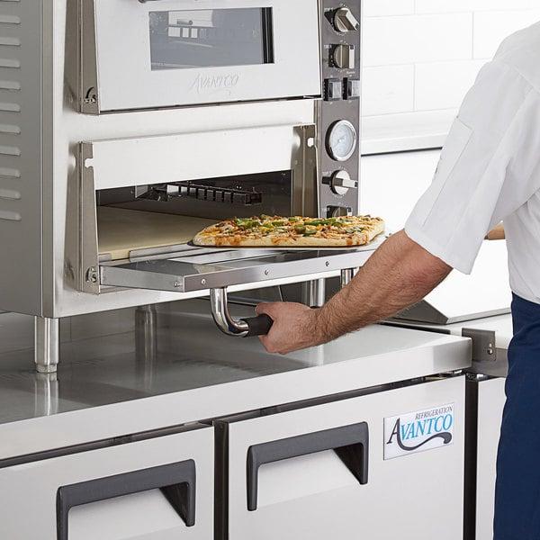 """Avantco 18"""" x 18"""" Square 1/2"""" Thick Cordierite Pizza Stone for Countertop Pizza Ovens Main Image 3"""