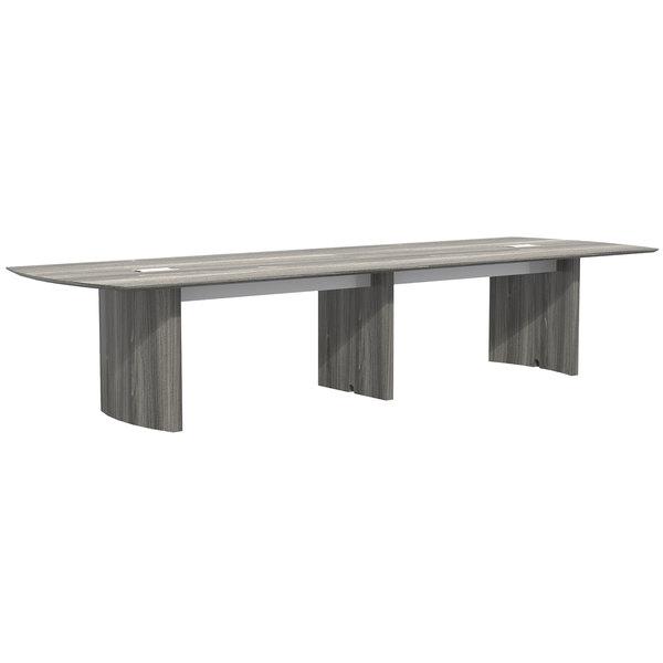 Mayline MNC14LGS Medina 14' Steel Gray Rectangular Conference Table