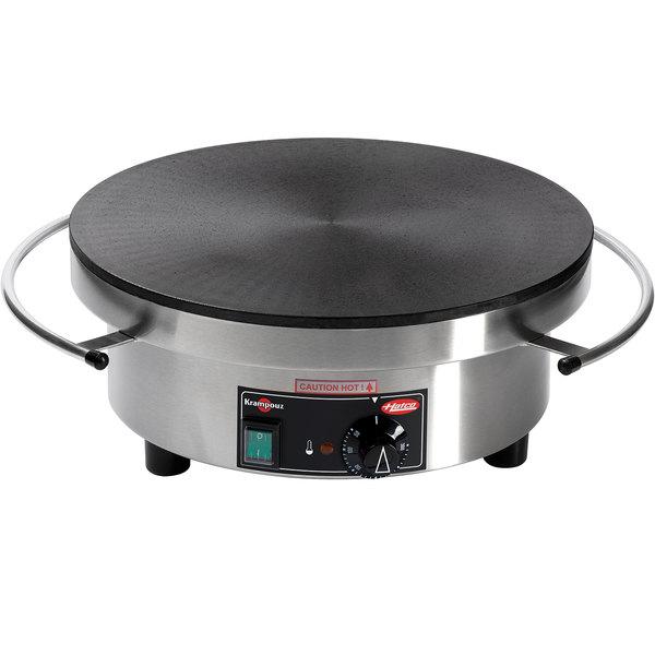 "Hatco Krampouz KCME.1RND620 15 3/4"" Round Electric Cast Iron Crepe Maker - 240V Main Image 1"