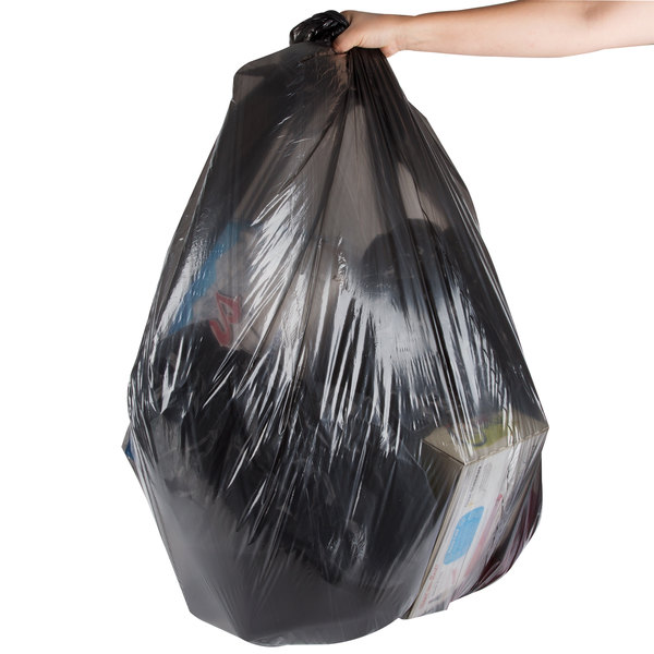 "Berry AEP 385818B 55-60 Gallon .71 Mil 38"" x 58"" Low Density Can Liner / Trash Bag - 200/Case"