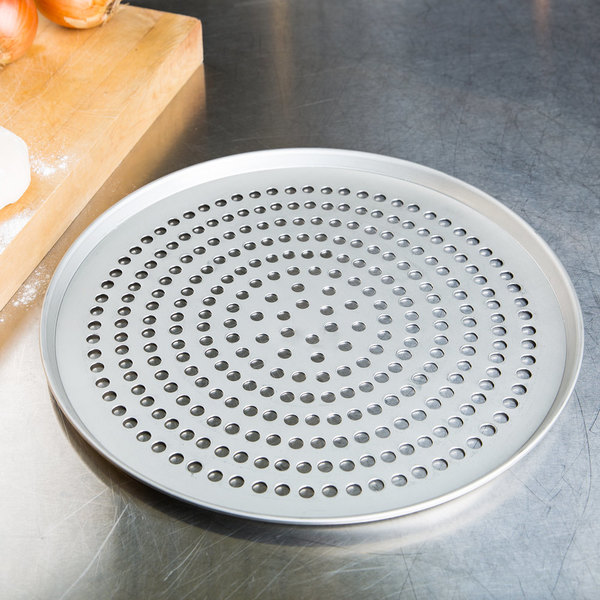 """American Metalcraft SPT2013 13"""" Super Perforated Tin-Plated Steel Pizza Pan"""