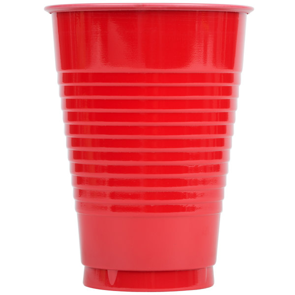 Creative Converting 28103171 12 oz. Classic Red Plastic Cup - 20/Pack