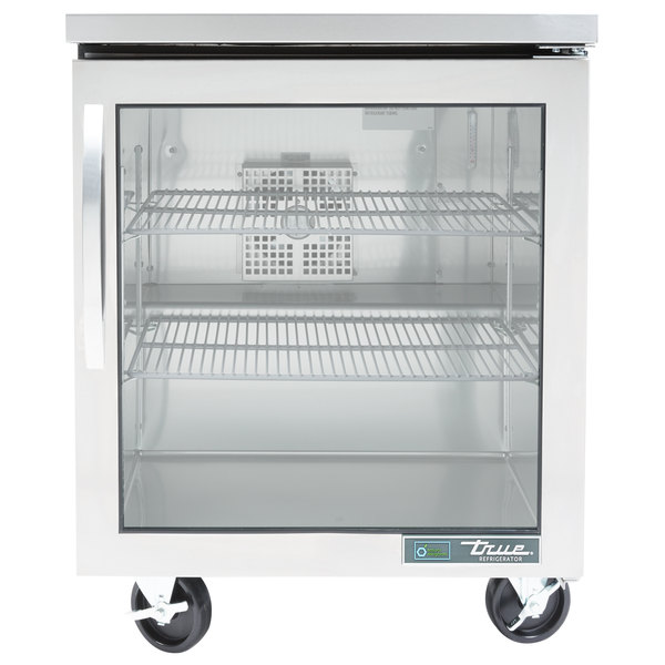 True TUC-27G-HC~FGD01 27 inch Undercounter Refrigerator with Glass Door