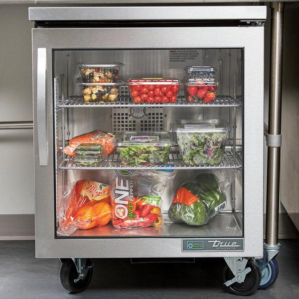 "True TUC-27G-HC~FGD01 27"" Undercounter Refrigerator with Glass Door"