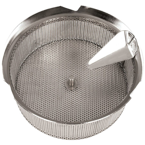 "Tellier X5015 Stainless Steel 1/16"" (1.5 mm) Basket Sieve for Food Mill Main Image 1"