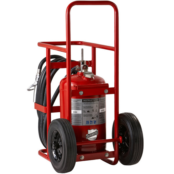 Buckeye 125 lb. ABC Fire Extinguisher - Rechargeable Untagged Stored Pressure - UL Rating 30-A:240-B:C - Rubber Wheels