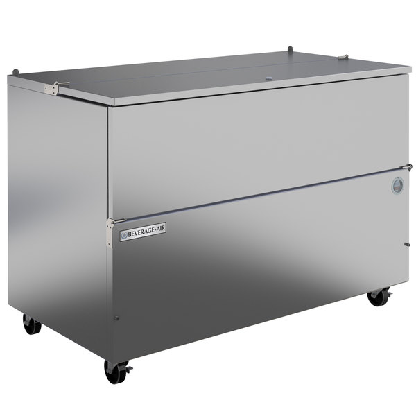 """Beverage-Air SM58HC-S 58"""" 1-Sided Stainless Steel Milk Cooler Main Image 1"""