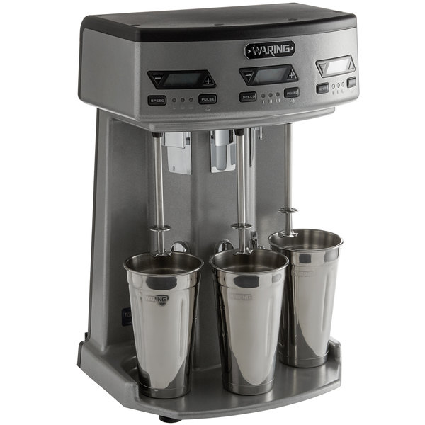 Waring WDM360TX Triple Spindle Three Speed Drink Mixer with Timer - 120V, 1125W