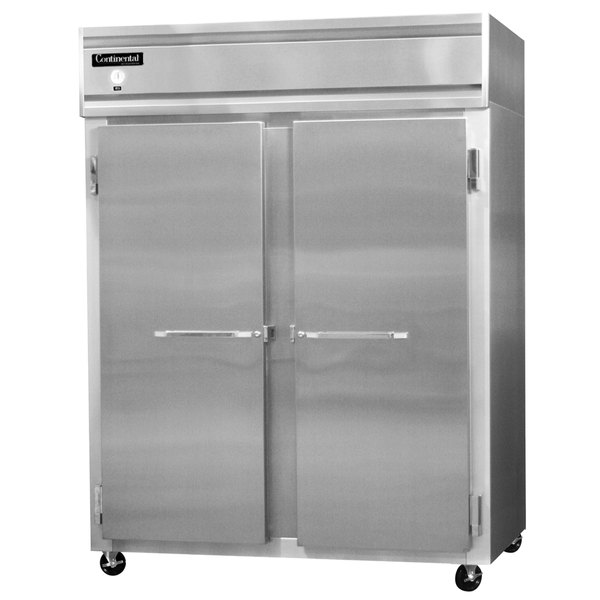 "Continental Refrigerator 2RES-N-SA 57"" Extra Wide Shallow Depth Reach-In Refrigerator Main Image 1"