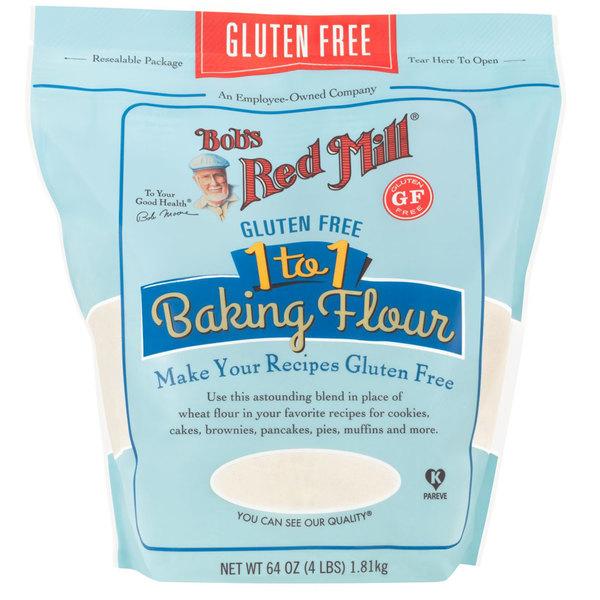 Bob S Red Mill 4 Lb Gluten Free 1 To 1 Baking Flour 4 Case