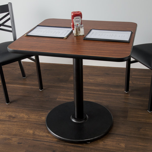"Lancaster Table & Seating 36"" x 36"" Laminated Square Table Top Reversible Walnut / Oak Main Image 3"