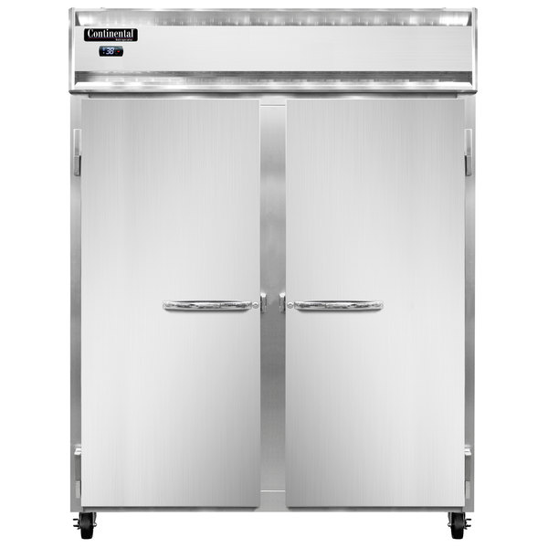 """Continental Refrigerator 2RE-N 57"""" Two Section Extra Wide Reach-In Refrigerator Main Image 1"""