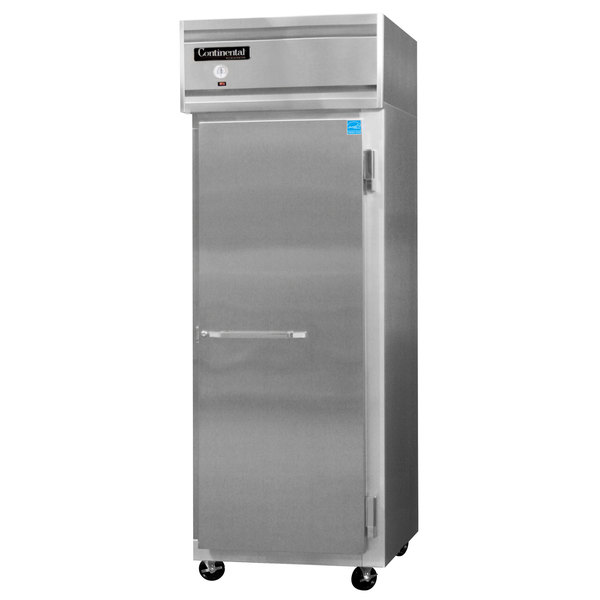 """Continental Refrigerator 1RE-N-SS 28 1/2"""" Solid Door Extra-Wide Reach-In Refrigerator Main Image 1"""