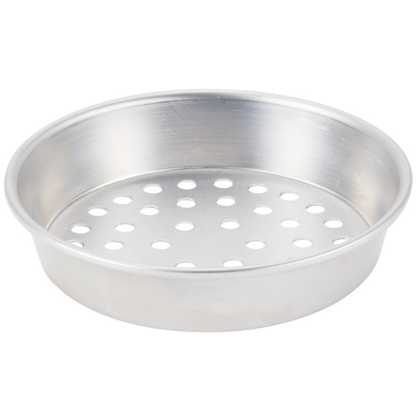 """American Metalcraft SPA90671.5 6"""" x 1 1/2"""" Super Perforated Standard Weight Aluminum Tapered / Nesting Pizza Pan"""