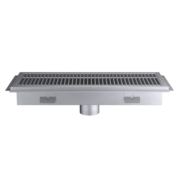 Regency 12 X 30 14 Gauge Stainless Steel Floor Trough With Grate