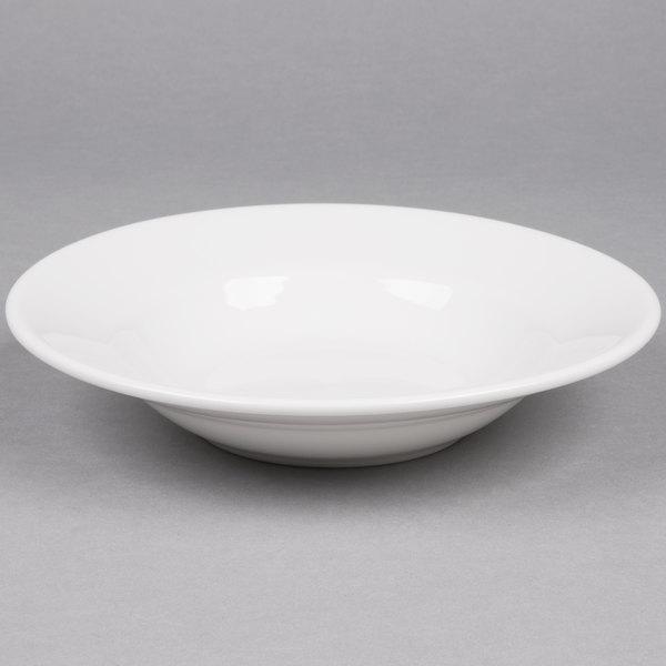 Tuxton ALD-090 Alaska 9.5 oz. Bright White Rim China Soup / Pasta Bowl - 24/Case