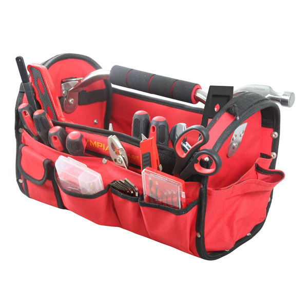 Olympia Tools 90-447 52 Piece Tool Set with Red Bag