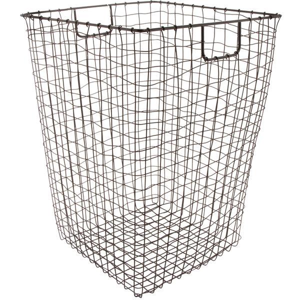 """GET WB-301-MG Breeze 16 1/2"""" x 25"""" Square Metal Gray Storage Basket"""