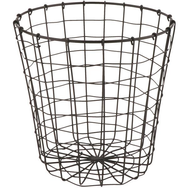 """GET WB-317-MG Breeze 8"""" x 8"""" Round Metal Gray Storage Basket"""