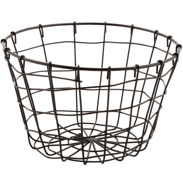 """GET WB-316-MG Breeze 8"""" x 5"""" Round Metal Gray Storage Basket"""