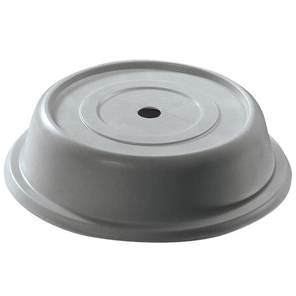 """Cambro 124VS191 Versa 12 1/4"""" Granite Gray Camcover Round Plate Cover - 12/Case"""